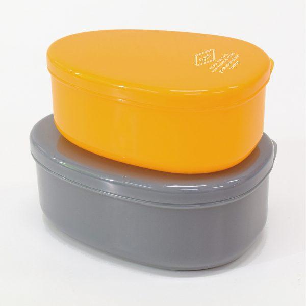 G.n.c ドロップシール容器2ヶセット イエロー&グレー