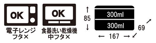 電子レンジOK(中ブタ不可)、食器洗い乾燥機OK(中ブタ不可)