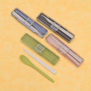 stripe&color 箸&スプーンコンビセット イメージ
