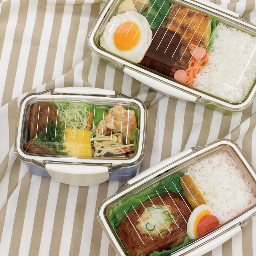 stripe&colorドーム2段ランチボックスイメージ