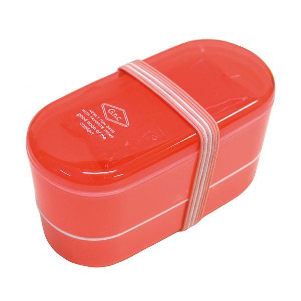 GG.n.c 保冷剤付き2段ランチボックス ピンク