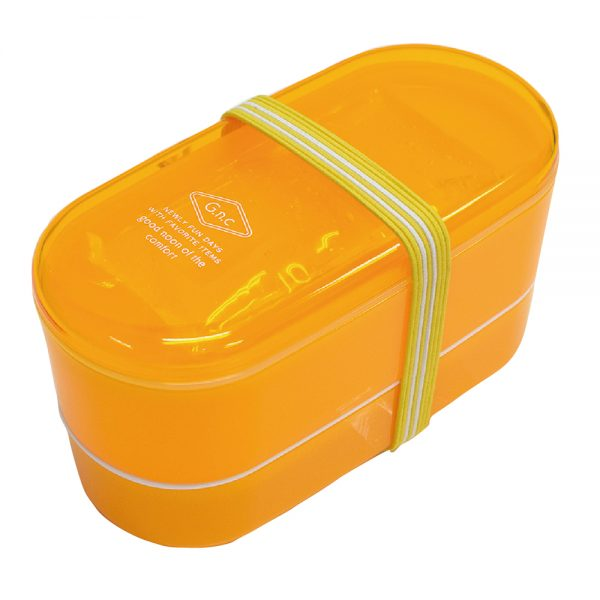 G.n.c 保冷剤付き2段ランチボックス イエロー