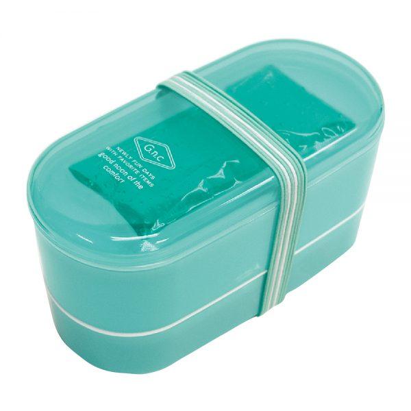 G.n.c 保冷剤付き2段ランチボックス グリーン
